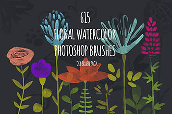615个PS水彩笔刷 615 PS Watercolor Brushes