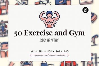 图标 | 运动年轻健身设计插画插图图形元素设计