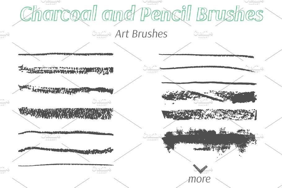 多种肌理效果的手绘笔刷 Collection of Hand Made Brushes设计素材模板