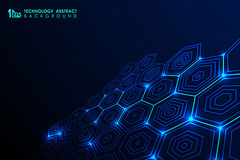背景六边形蜂巢未来科技矢量科技素材下载[EPS]