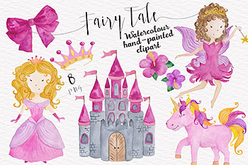 童话般的水彩集合 Fairytale Watercolor Collection