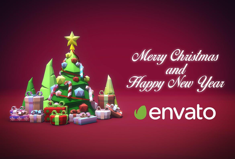 创意圣诞节&新年主题背景图素材 Merry Christmas and a Happy New Year设计素材模板