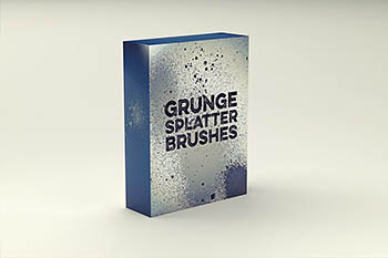 粗糙的纹理笔刷 Grunge Splatter Brushes