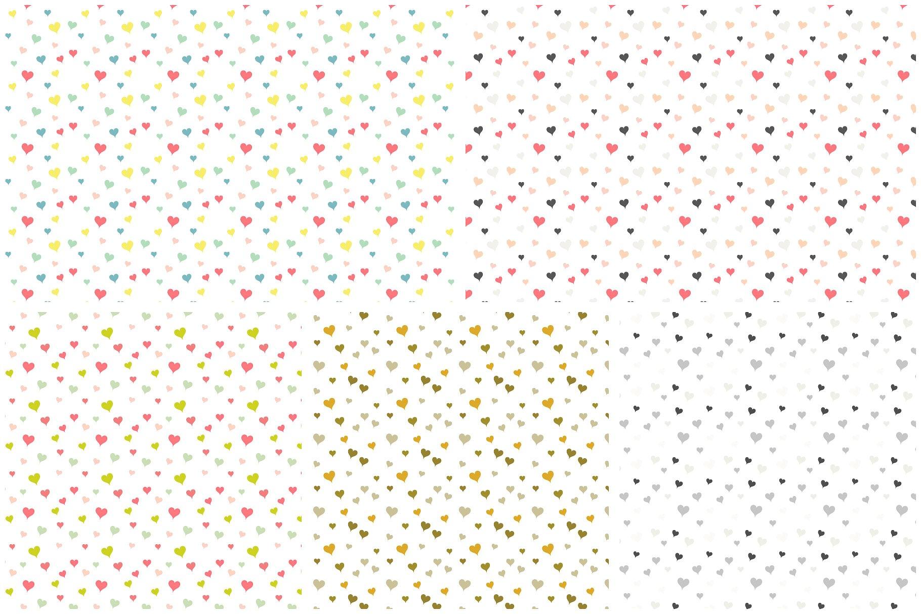 爱心点状图案画笔 Confetti Scatter Brushes & Patterns设计素材模板