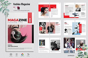 女性时尚购物杂志设计模板品牌画册