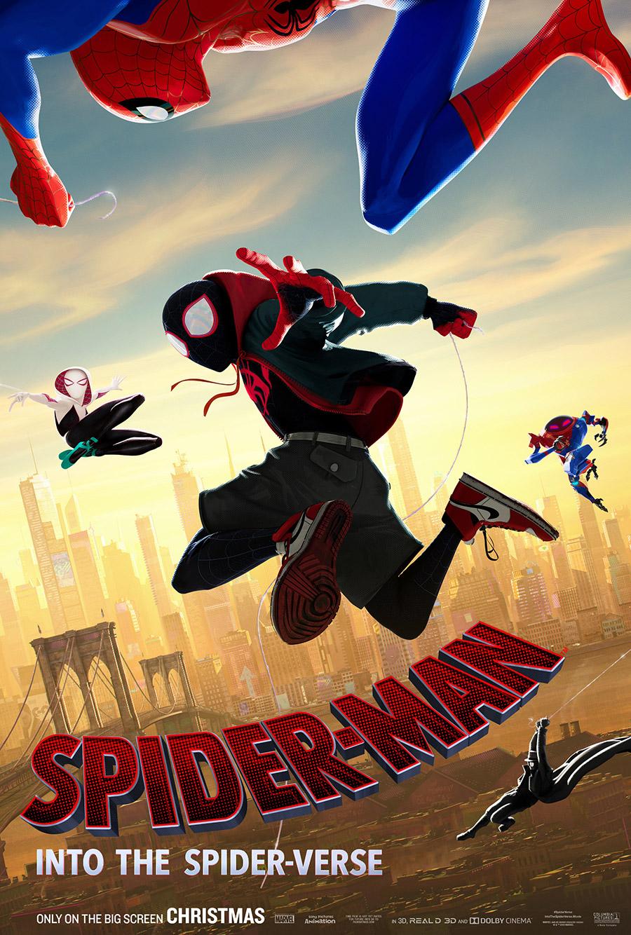 蜘蛛侠:平行宇宙高清大尺寸海报欣赏设计素材模板