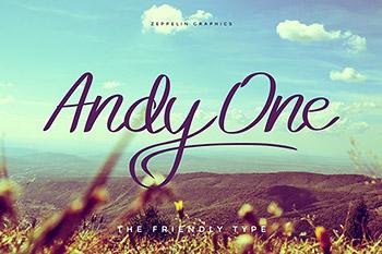 设计字体手写多用途 Andy One Font