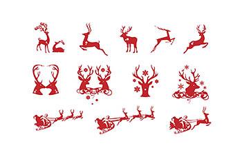 精致圣诞矢量图形免费下载