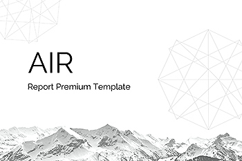 SWOT分析/市场分析/数据统计PPT幻灯片模板 Air – PowerPoint Report Template