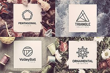 几何logo设计模板 110 Geometric Logo Pack