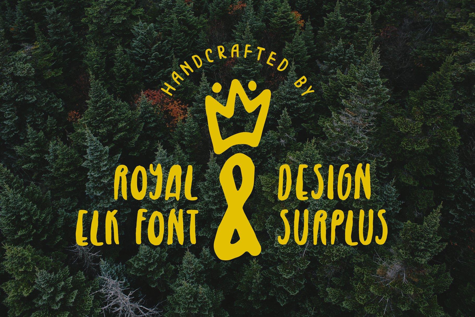 皇家麋鹿手写字体 Royal Elk Font设计素材模板