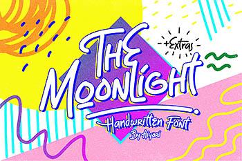 手写趣味设计字体 The Moonlight Tubular Font