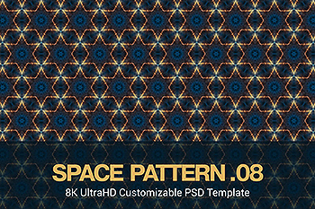 8K超高清太空主题抽象四方连续图案无缝背景素材v8 8K UltraHD Seamless Space Pattern Background