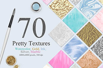70种大理石柔和水彩背景纹理合集