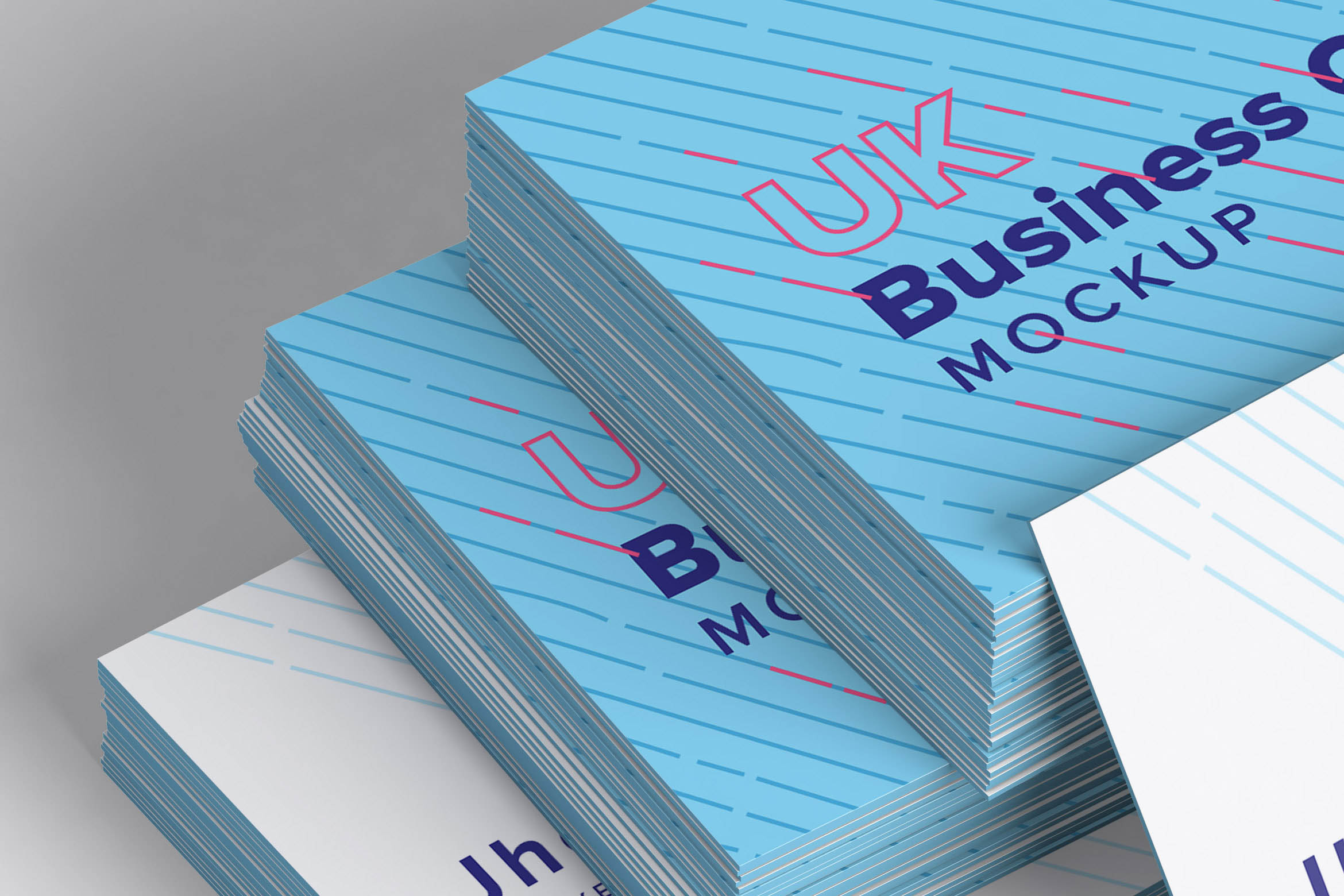 名片设计样机 UK Business Cards Mockup 08
