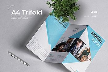 企业三折页版式设计宣传小册设计模板v4 Business Trifold Brochure