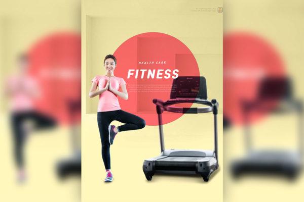 运动健身宣传推广海报设计模板[PSD]