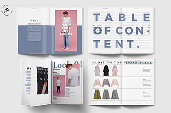 简约时尚&商业摄影杂志画册设计模板