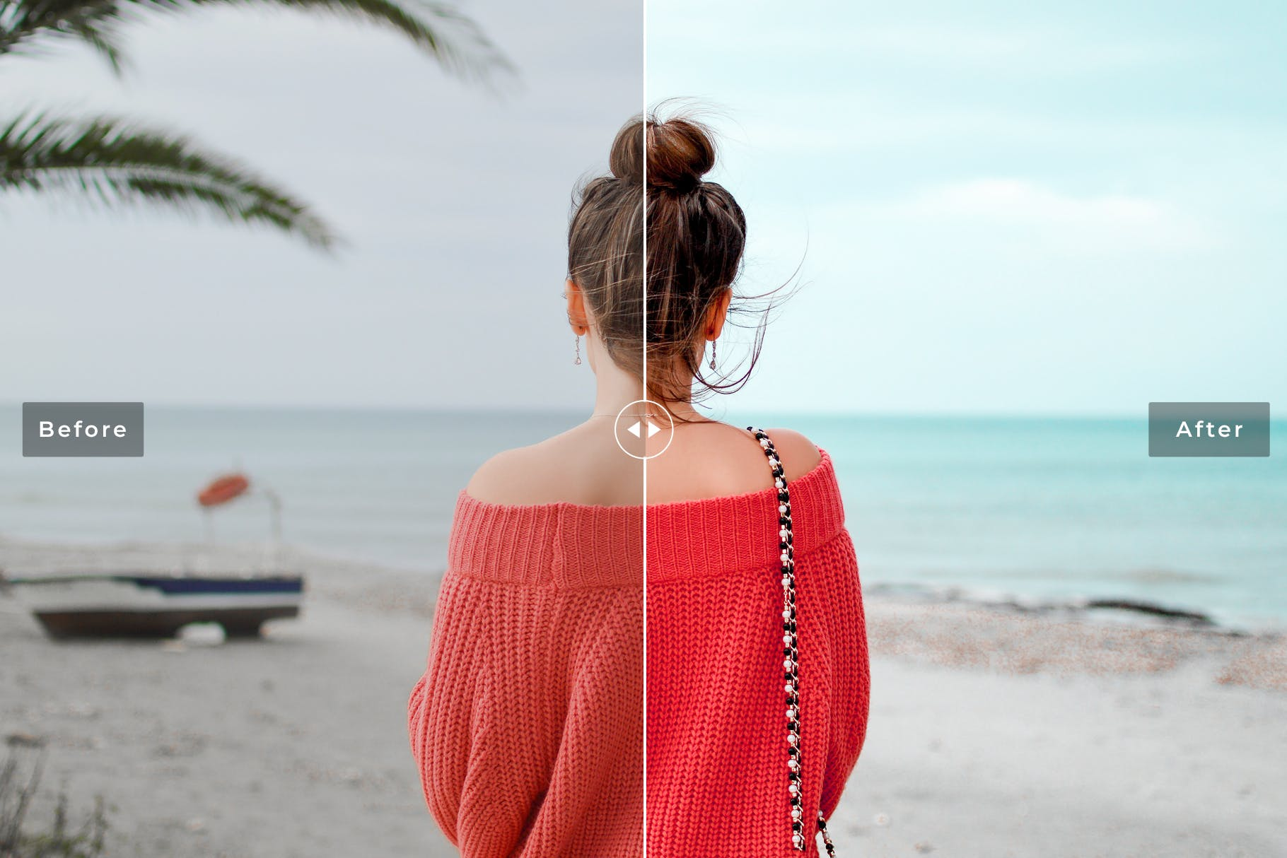 沙滩人物摄影后期调色Lightroom预设 Sea Wind Mobile & Desktop Lightroom Presets设计素材模板