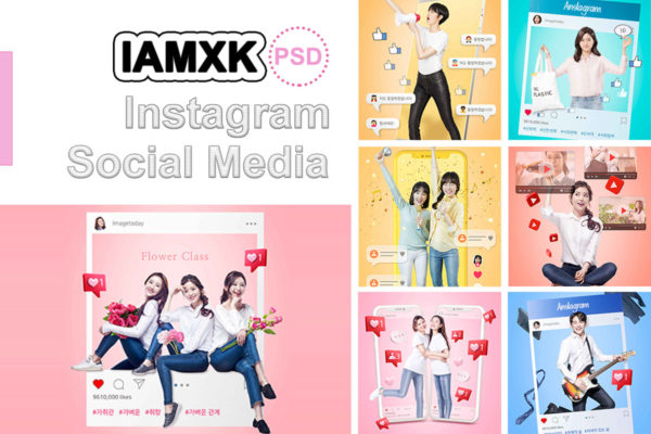 社交媒体个性生活主题海报设计psd素材集