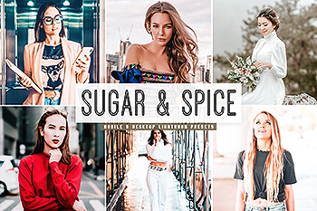 自然鲜艳暖色调照片滤镜Lightroom预设 Sugar & Spice Mobile & Desktop Lightroom Presets