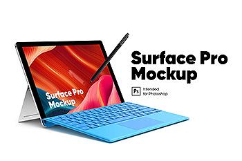 Surface Pro微软超极本Web设计屏幕预览样机 Surface Pro Mockup