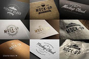 高品质LOGO设计展示样机 Logo Mock-Up Set