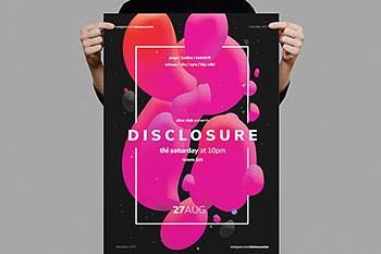 时尚高端抽象多用途海报宣传单DM设计模板(psd)