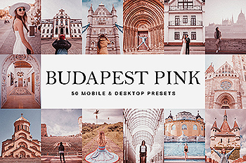50款经典电影胶片色调Lightroom预设&LUT 50 Budapest Pink Lightroom Presets and LUTs