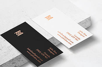 优雅的商业名片样机 Elegant Business Card mockup