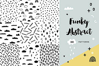 30款抽象时尚无缝图案 30 Trendy Abstract Seamless Patterns