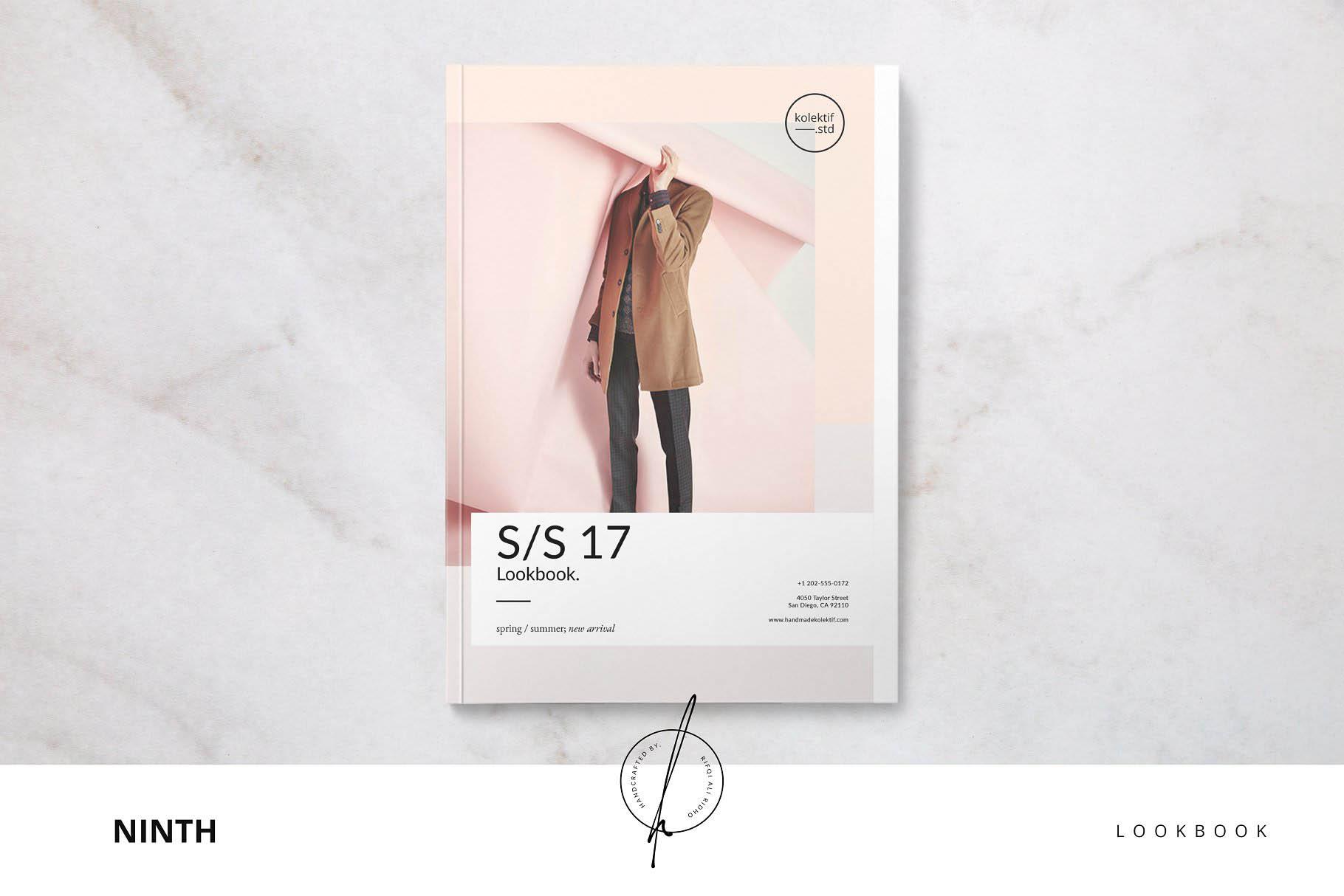 时尚杂志画册模板 Ninth Lookbook