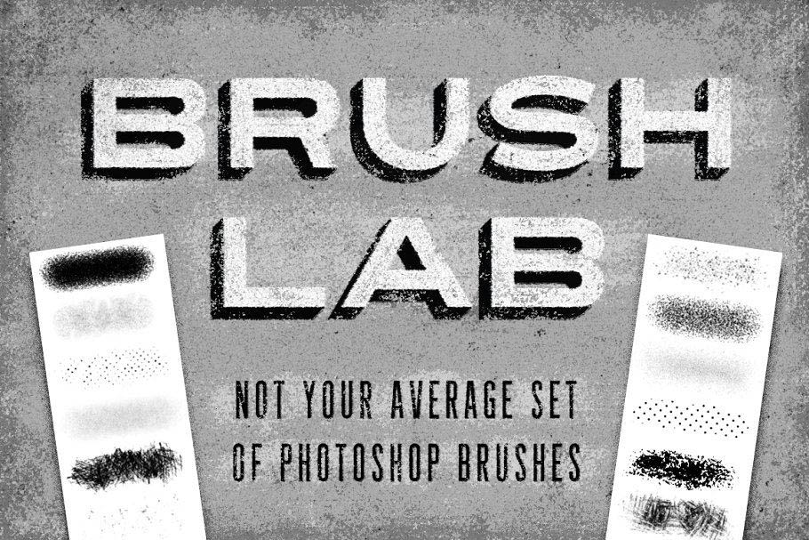 各种纹理效果的PS笔刷 Brush Lab – Photoshop Brushes
