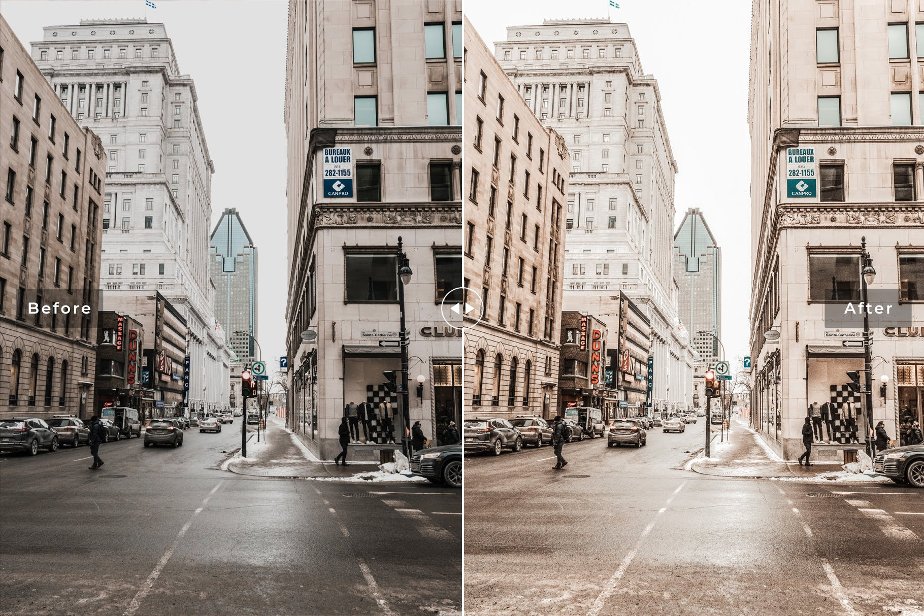 旅行摄影专业调色Lightroom预设下载 Montreal Mobile & Desktop Lightroom Presets设计素材模板