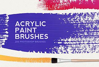 200个丙烯酸漆质感笔刷下载