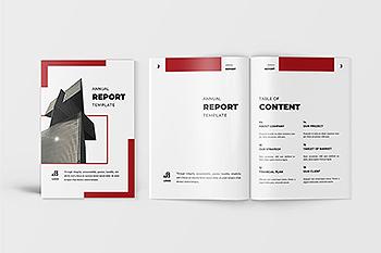 时尚高端简约年度报告品牌手册画册宣传册杂志设计模板(AI,INDD)