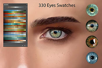眼睛绘画笔刷 Eyes Swatches for Digital Painting