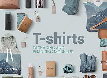T恤卫衣短袖服装样机智能对象贴图包装印花效果图免抠素材PS海报 Y0090