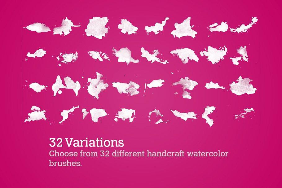 32个水彩颜色素材 32 Watercolor Splatters设计素材模板
