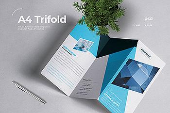 创意代理企业三折页宣传单设计模板 Business Trifold Brochure