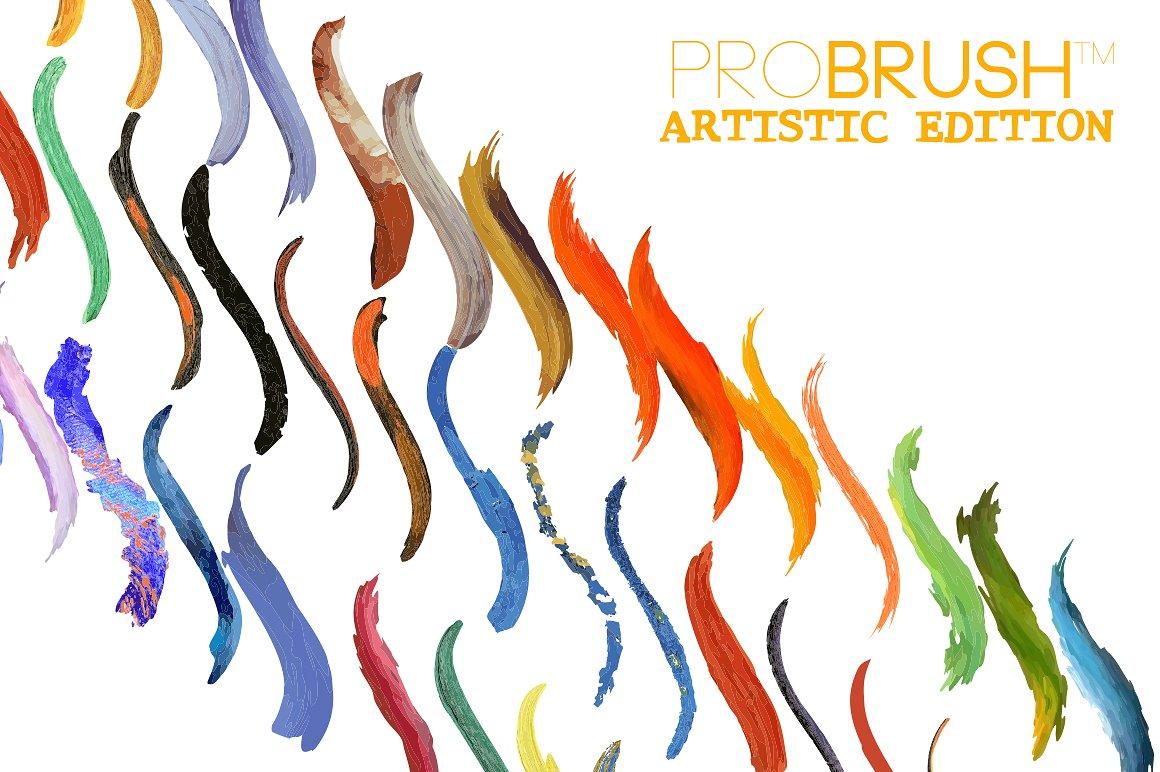 41种艺术笔刷合集 41 Artistic Brushes – ProBrush™设计素材模板