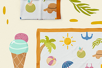 夏日元素矢量剪贴画素材 Summer Vector Clipart Pack