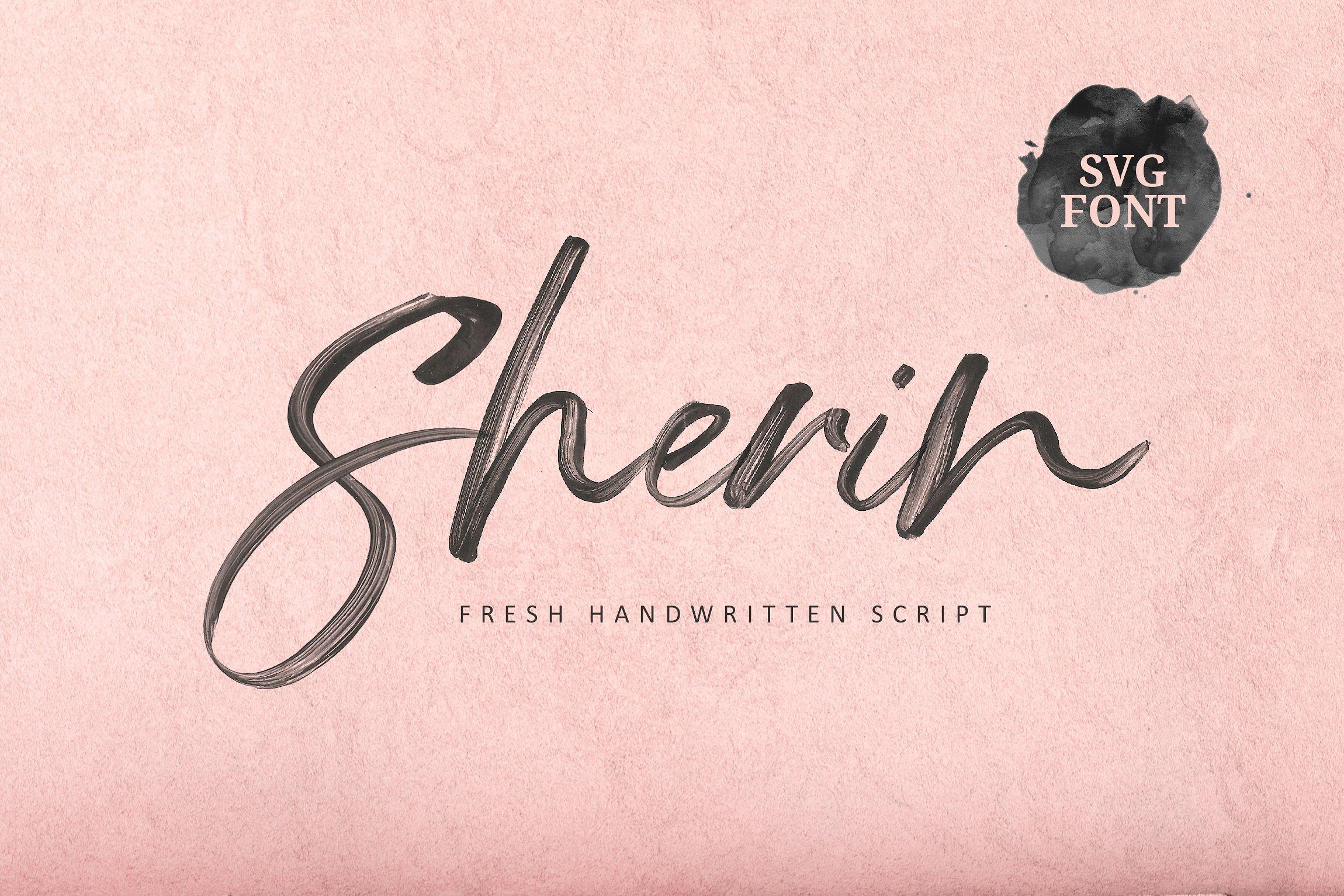 手写SVG字体 Sherin SVG Font设计素材模板