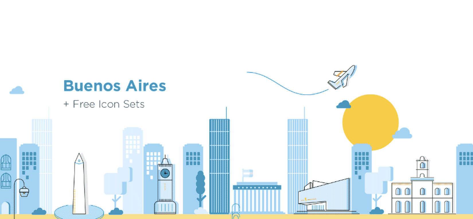 美国著名城市建筑与元素合集图标打包下载[Ai]