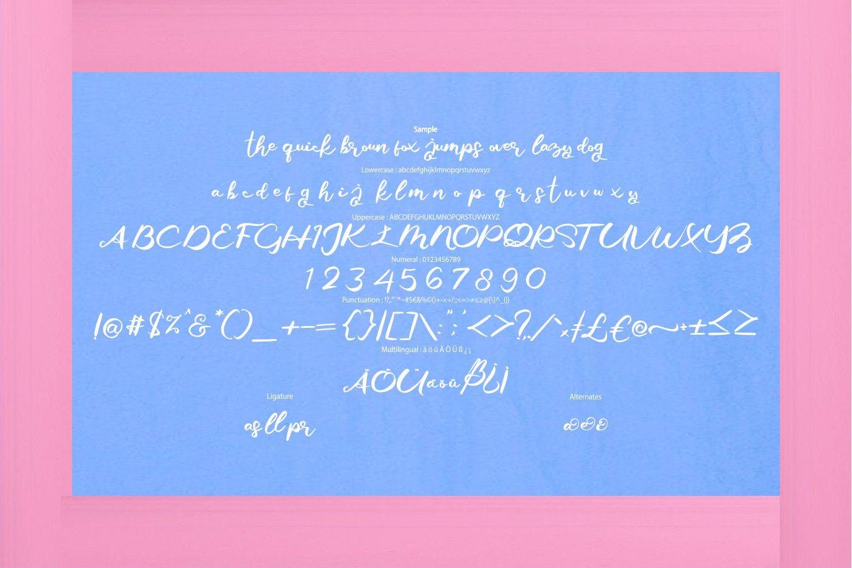 现代风格印刷排版设计英文书法艺术字体 Giji | Modern Script Style Font设计素材模板