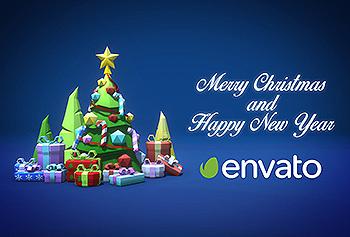 创意圣诞节&新年主题背景图素材 Merry Christmas and a Happy New Year