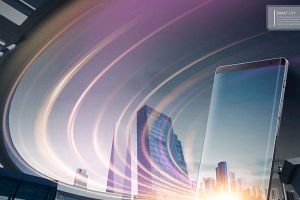 现代智能城市科技主题海报设计素材[PSD]