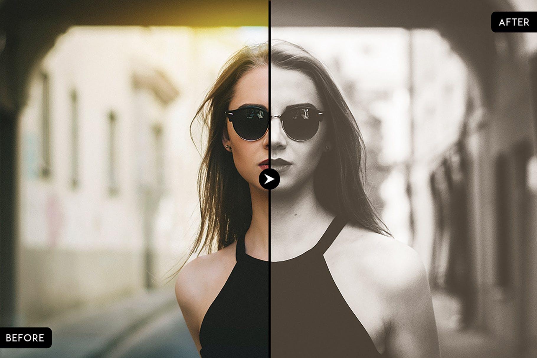 时尚人像照片lightroom人像预设lightroom预设下载设计素材模板
