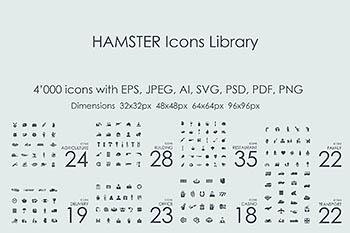 行业图标集 4000 HAMSTER Icons Library