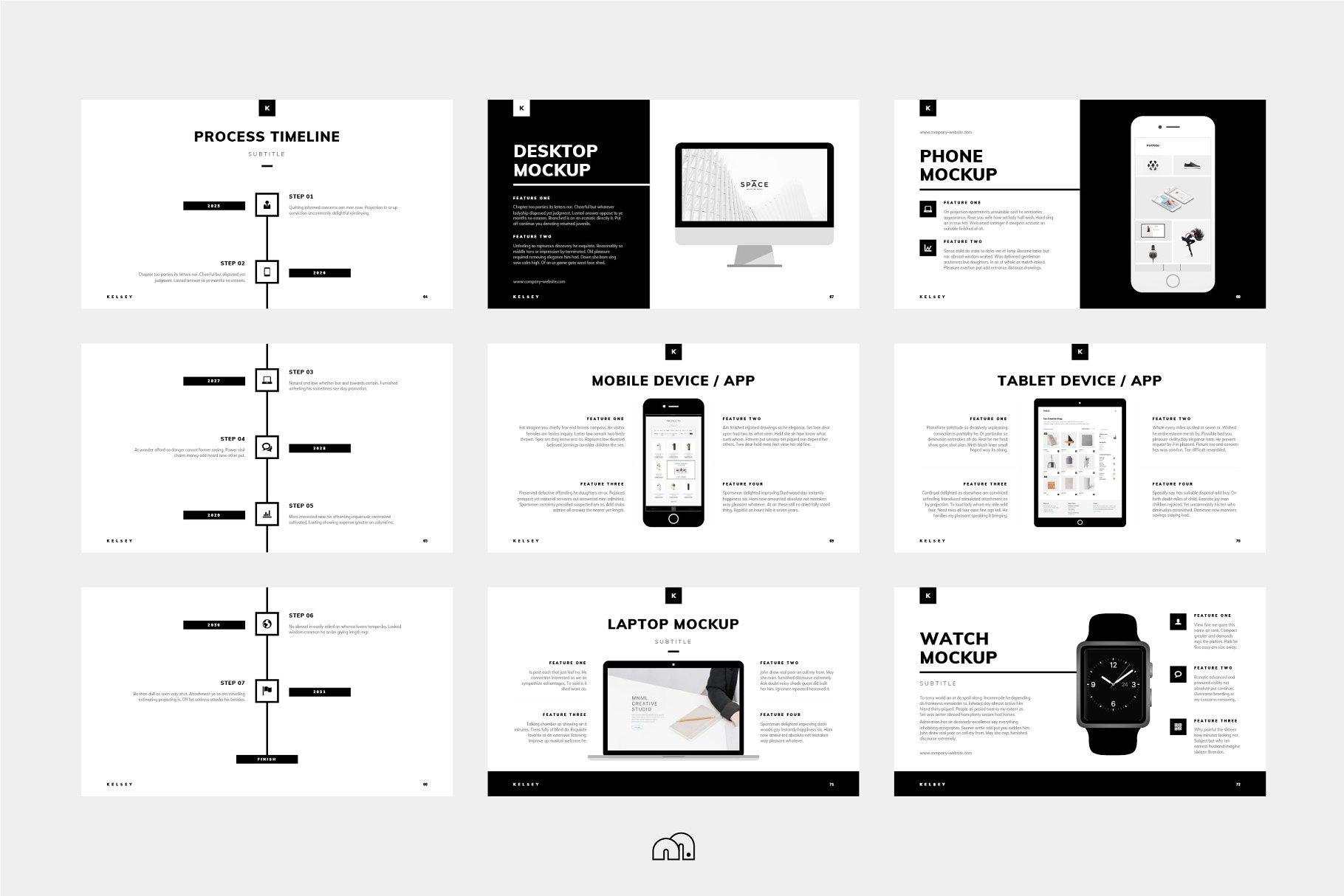 设计感很强的公司企业介绍keynote模板下载 Kelsey – Keynote Presentation设计素材模板